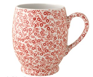 Red Felicity 12.5oz Footed Mug Retired