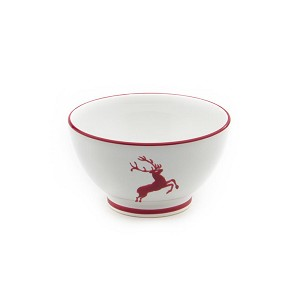 Wine Red Deer (Stag) Coupe French Style Cereal Bowl 5.5''