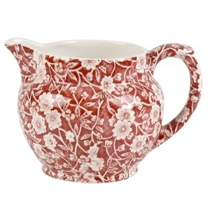 Red Calico 1/2 Pint Dutch Jug Small
