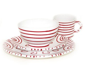 Dizzy Red Place Setting