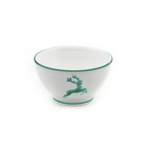 "Green Deer (Stag) Cereal Bowl 6"" RETIRED"