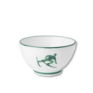 Toni the Skier Coupe French Style Cereal Bowl 5.5'' , Green