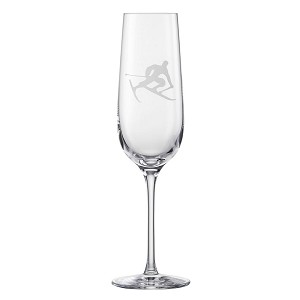 Eisch Glass, Champagne Glass Toni the Skier 214 ml