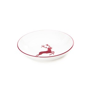 Bordeaux Wine Red Deer Coupe Soup Plate 7.9''
