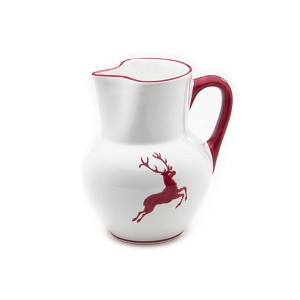 Wine Red Deer (Stag) Pitcher 51 oz