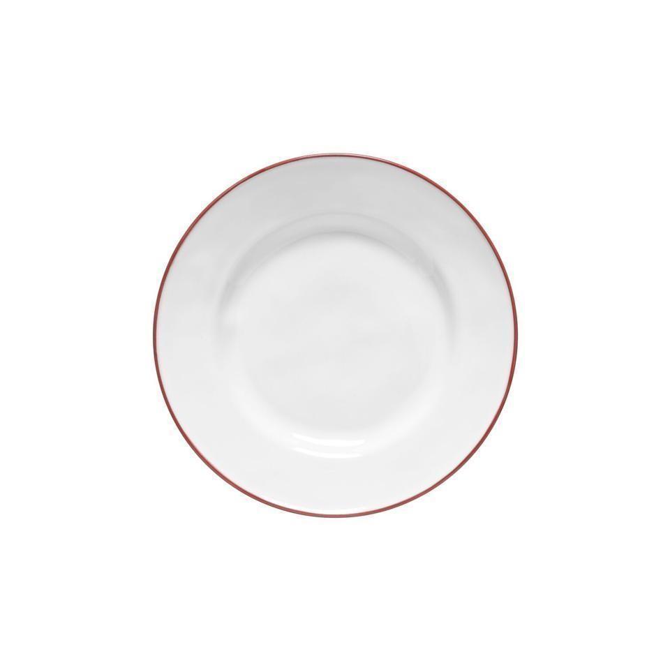 Beja White Red Salad Dessert Plate 9 Inch Csf Atp231 0101