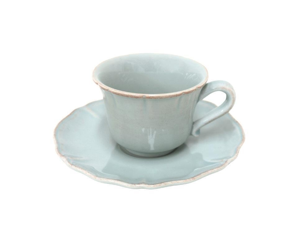 Alentejo Turquoise Tea Cup And Saucer Csf Tcs01 00201d